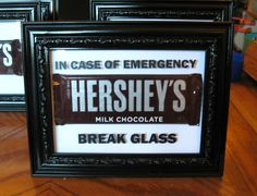 "Know a hard working mom or a busy dad? This silly ""In case of emergency"" frame might be the PERFECT gift for them!"