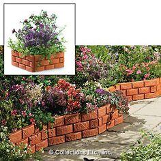Snapping Brick Garden Borders In Our Catalog: Garden Border Set 4 Price: $14.99