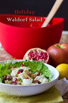 Holiday Waldorf Salad via @Sommer | A Spicy Perspective