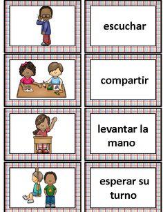 School Vocabulary Cards in Spanish