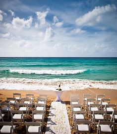 Such a beautiful ceremony setting at Frenchman's Reef & Morning Star Marriott Beach Resort!