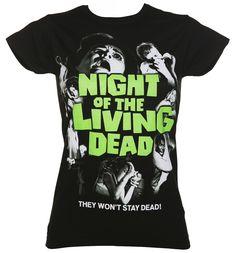 Ladies Black Night Of The Living Dead T-Shirt