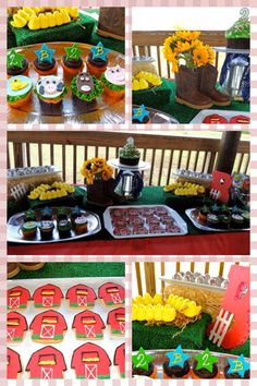 birthday desserts, birthday bash, birthday parti, wilt 1st, chica parties, 1st birthday, barnyard birthday, 2nd birthday, fist birthday