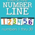 Bring hands-on exploration into your math instruction with this interactive number line. Print each number page (I prefer to use cardstock), lamina...