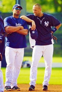 Yankees!! ♥ Cano and Jeter. Can't wait to see these two! Praying Jeter is off the D list