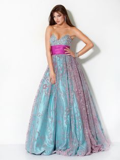 #Jovani style 3653 #JovaniFashions #dress #crystal #embellished #pink #blue #ballgown Quinceañera