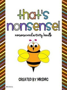Fun nonsense word activities all in one! $