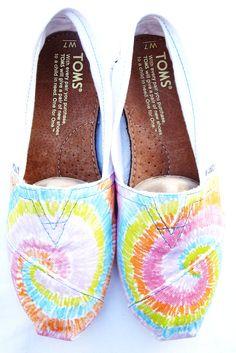 Pastel Tie Dye Custom TOMS