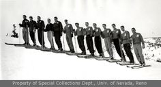 Men's Ski team during the Winter Carnival (1958)