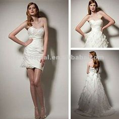 wedding dress with removable skirt :)