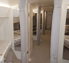 Private: The interior of the Aeroloft boasts private sleeping quarters, as well as a changing room