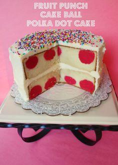 Polka Dot cake... so cute!