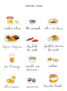 winter food, en francais.