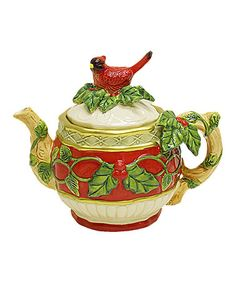 Take a look at this Red Cardinal Teapot by Kaldun and Bogle on #zulily today!