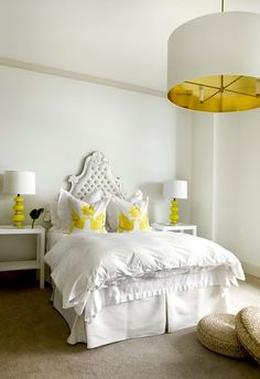white with yellow accents
