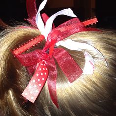 Hair ties that I made for Hannah's softball team!
