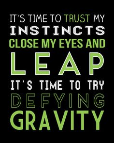I think defying gravity is a great song.  One of my absolute favorites along with For Good.