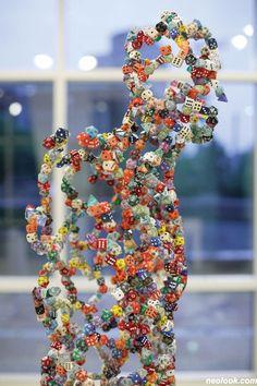 repurposed dice  --> sculptures