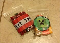 Minecraft party favors from Parties4Ever