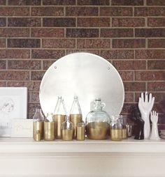 DIY: Golden Glass Bottles