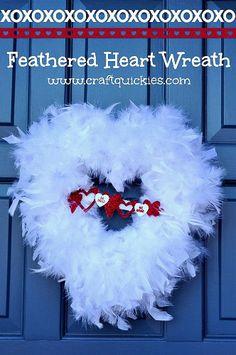 Feathered Heart Wreath