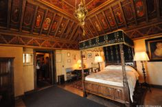 Hearst bedroom -  This was Hearst's private bedroom, on the third floor of the man mansion building.