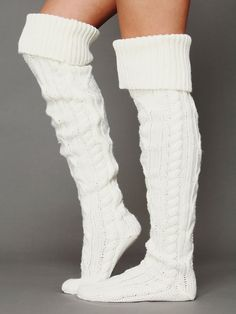 Free People Hilary Cable Thigh Hi - cute to pair with tall brown boots