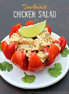 food recip, chicken salads, main dish, southwest chicken salad, shredded chicken