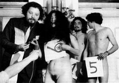 danishprinciple: Yoko Ono: Election of Miss Festival du Cinéma at Knokke-Le-Zoute (December 1967) © Jean-Jacques Lebel / François Massal