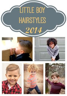 Little Boy Haircuts 2014! A bunch of adorable haircuts for all hair types! The bottom right is my fave for my current & future nephews!
