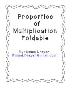 ... Associative Property, Properties Of Multiplication and Multiplication