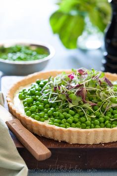 Pea + Herbed Goat Cheese Tart