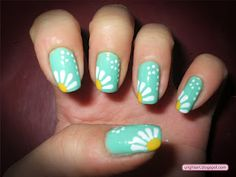 nail designs, nail polish designs, backgrounds, flower designs, daisies, sunflower nails design, nail arts, beauti, art supplies