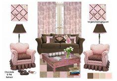 pink retreat, emood board