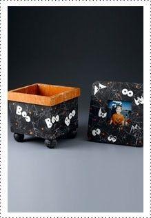 Boo Box & Spooky Eyes Frame #Krylon #Halloween #Craft