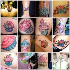 Love these cupcake tattoos!!!