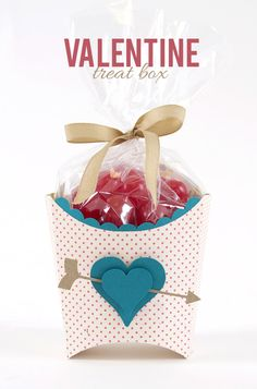Valentine Treat Box & Custom Shaped Scallop Border Tutorial. (The layered heart idea would be great on a card as well).