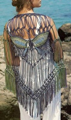 butterfli motif, butterfli shawl
