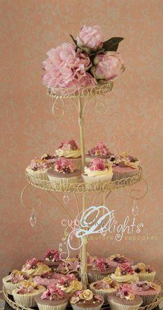 shabby chic cupcake stand