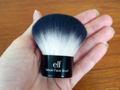 I own this. Seriously go get one!! $6! ELF Kabuki makeup cosmetics make-up brush. U put ur liquid foundation make up on w this brush! The makeup  doesn't stick to the brush at all!