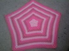 Crochet star baby pink Afghan