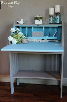DIY:: Thrift Secretary Desk Transformation-this is Beautiful!!