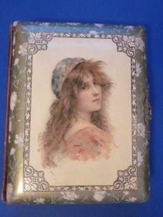 Vintage Celluloid Victorian Photo Album.