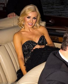 Katherine Jenkins showing classic #style in a Bentley