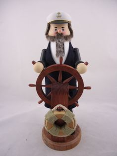 Zim's Heirloom Collectible Nutcracker ~ The Ship Captain   www.thewhitehurstcompany.com