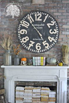 Don't want to use your fireplace? The mantel also makes a great bookshelf!