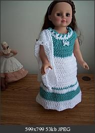 "CROCHET:  Free Outfit for 18"" doll Pattern."