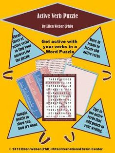 Students love locating action verbs hidden in this puzzle.It comes with an answer key. The tasks here help student writers and readers to us...