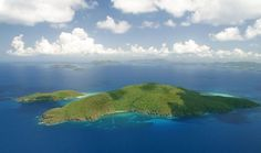 5 private tropical islands.