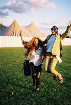 Beyoncé y Solange en el Hackney Music Festival 2012